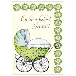 gratulationskort Nyfödd från Originella Original