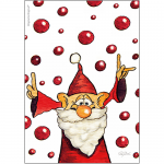 Julkort, dubbelvikt med kuvert