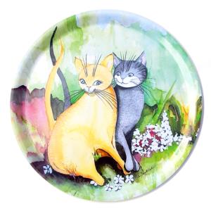 Rund bricka Förälskade katter