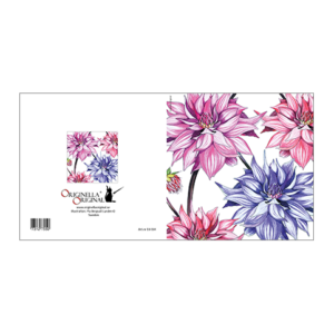 Blomsterkort med Dahlior