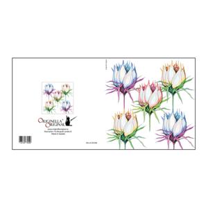 Vackert illustrerat blomsterkort av Pia Bergvall Lundén