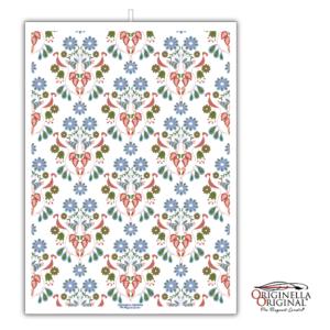Vacker linnehandduk med mönster Svea