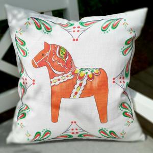 Kuddfodral med vacker dalahäst från Originella Original®