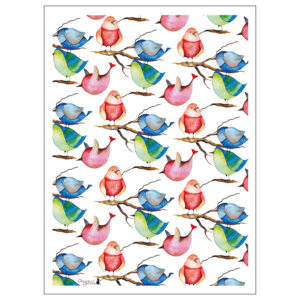 Kökshandduk med söta småfåglar från Originella Original®