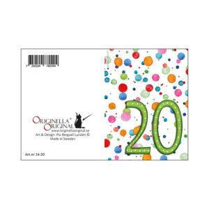 20-års minikort