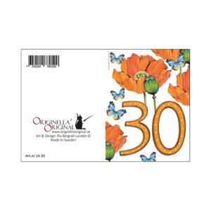 minikort 30 år
