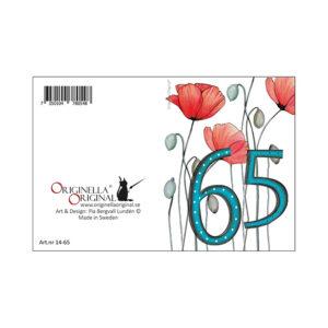 Minikort 65 år