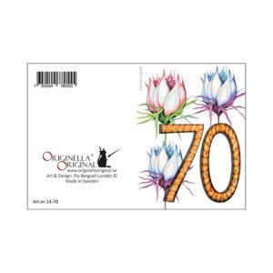 minikort 70 år