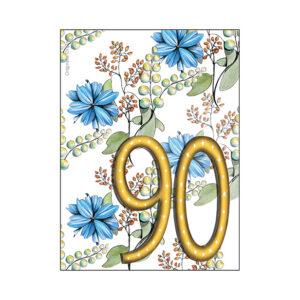 Minikort 90 år