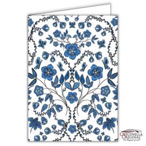 Vackert mönsterkort i blått