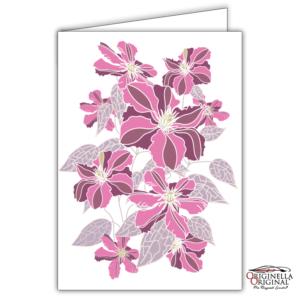 Blomsterkort klematis rosa