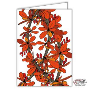 Blomsterkort rött