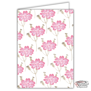 Kort med rosa blommor