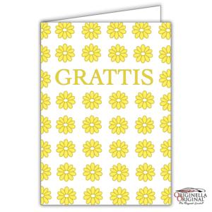 Blomsterkort med gula blommor