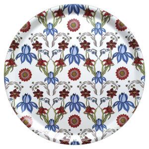 RUnd bricka med vackert mönster av Pia Bergvall Lundén