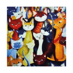 Katter i massor på disktrasa