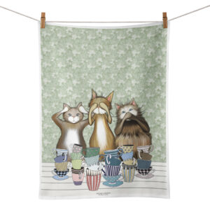 Handduk med katter