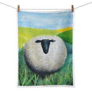 Linnehandduk med sött får